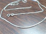 "24"" Silver Box Chain 925 Silver 4.8g"